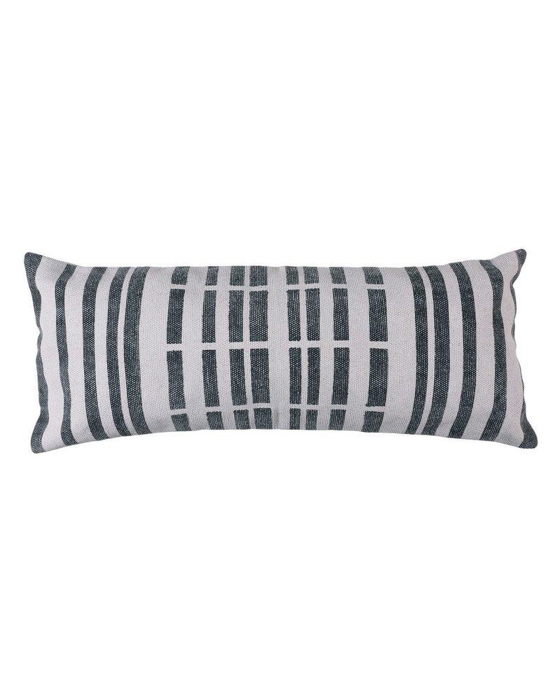 HomArt Block Print Lumbar Pillow 14x36 - Broken Stripe