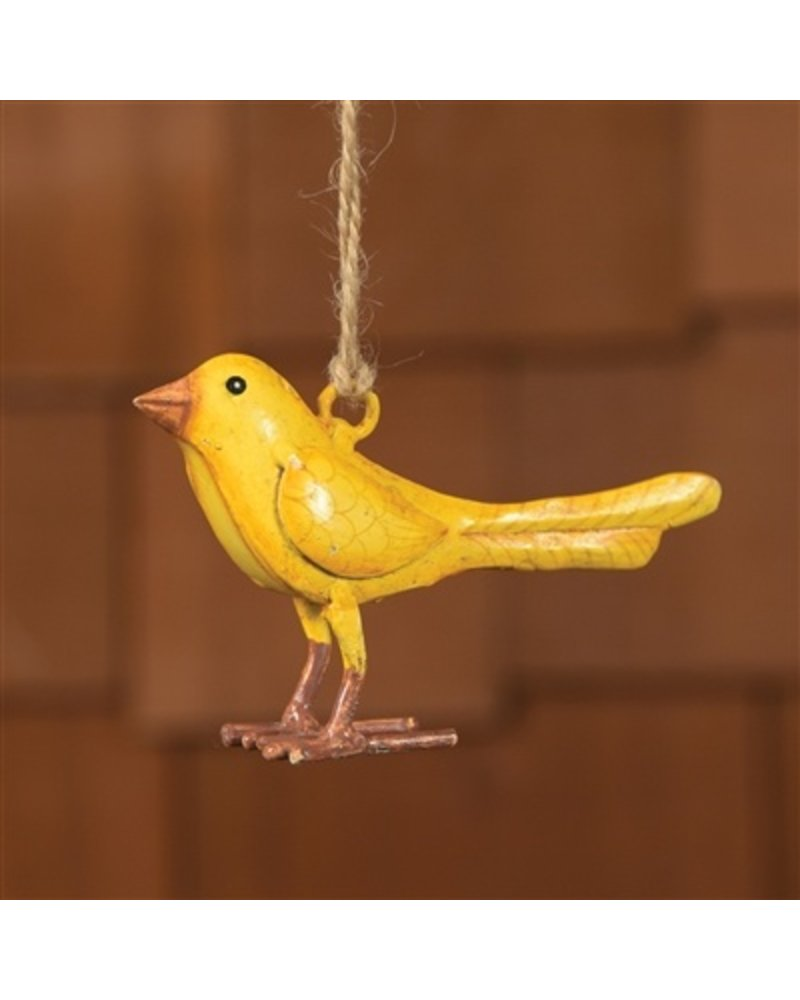 HomArt Painted Metal Canary Ornament