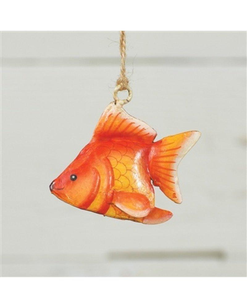 HomArt Painted Metal Goldfish Ornament