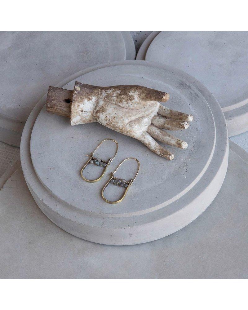 OraTen Brass Drop Earrings - Labadorite