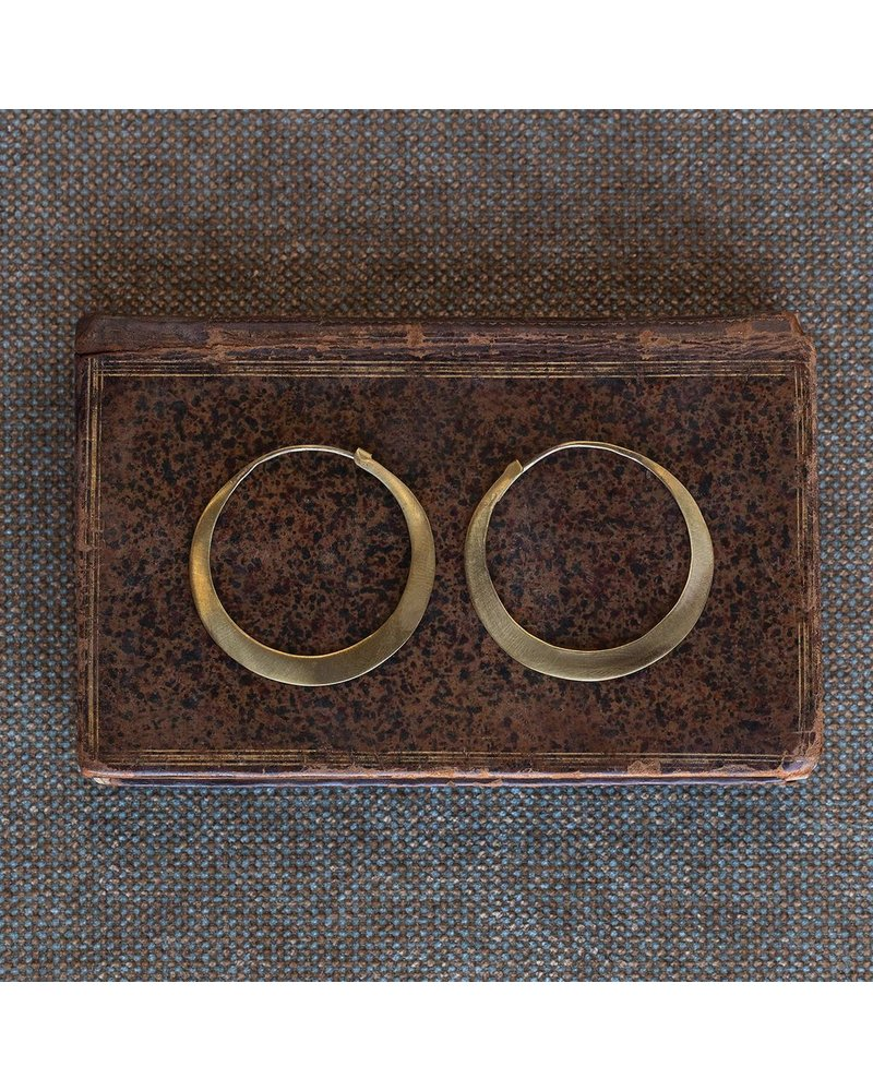 OraTen Brass Hoop Earrings - Sm