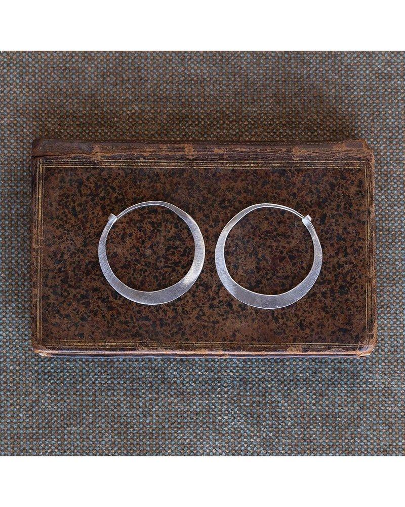 OraTen Silver Hoop Earrings - Sm