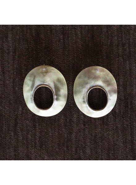OraTen Oval Void Brass Earrings