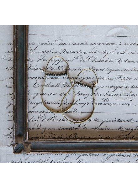 OraTen High Strung Gem Brass Hoop Earring-Pyrite