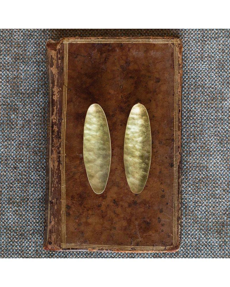 OraTen Pod Brass Earrings, Wide