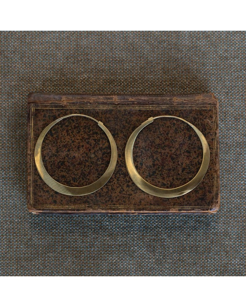 OraTen Hoop Brass Earrings - Lrg