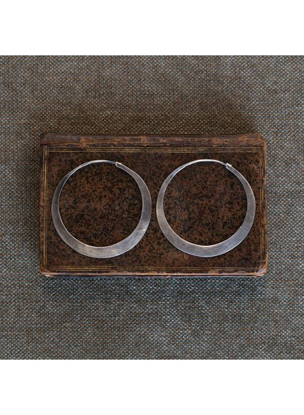 OraTen Hoop Silver Earrings - Lrg
