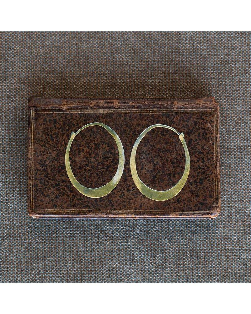 OraTen Oval Brass Earrings