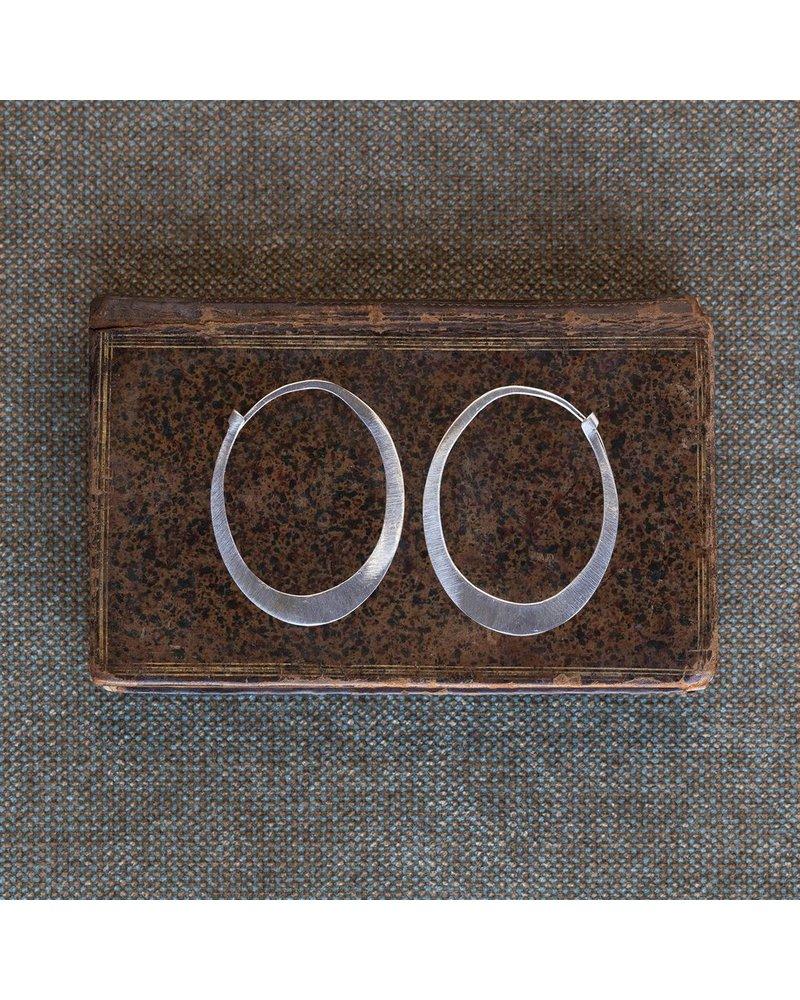 OraTen Oval Silver Earrings