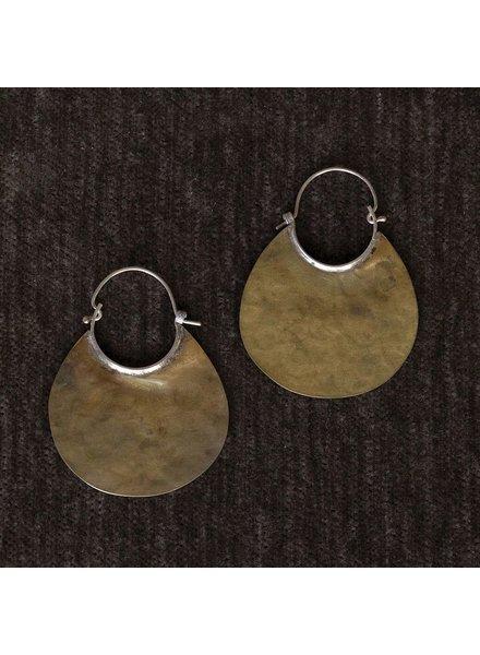 OraTen Brass Earrings, Drop