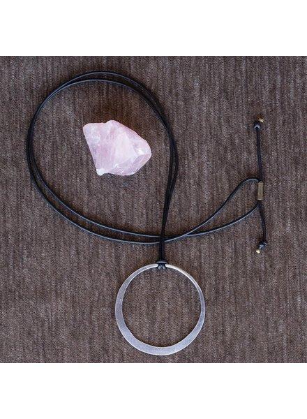 OraTen Silver Hoop Pendant