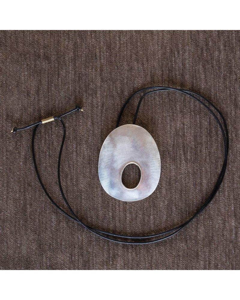 OraTen Oval Void Silver Pendant