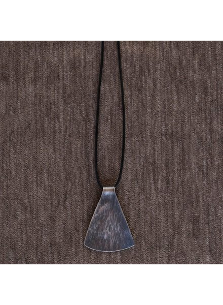 OraTen Gingko Silver Pendant, Wide Leaf
