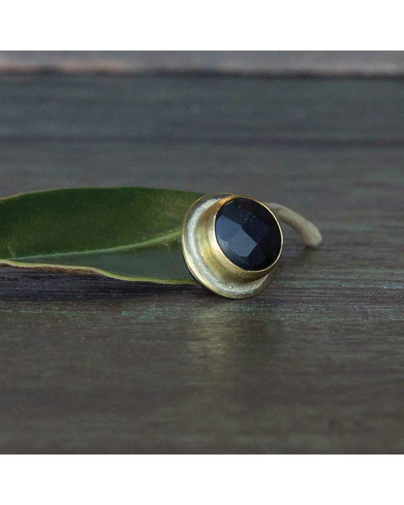 OraTen Lapel Brass Pin - Matte Black Onyx