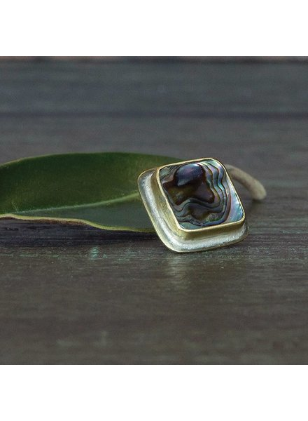 OraTen Lapel Brass Pin-Abalone Shell