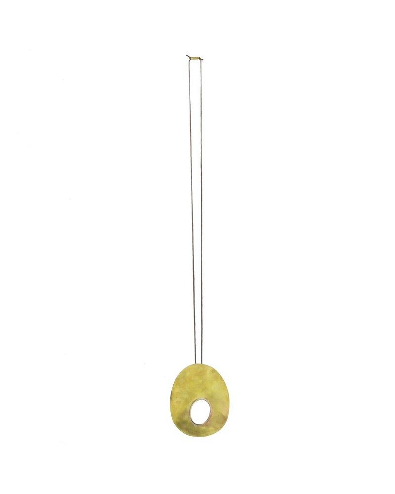 OraTen Oval Void Brass Pendant