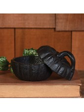 HomArt Pumpkin Cast Iron Box - Black/Brown