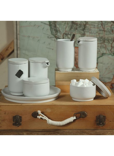 HomArt Luna Ceramic Cup with Lid - Matte White