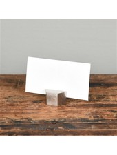 HomArt Nickel Cast Iron Hexagon Place Card Holder - Set of 2