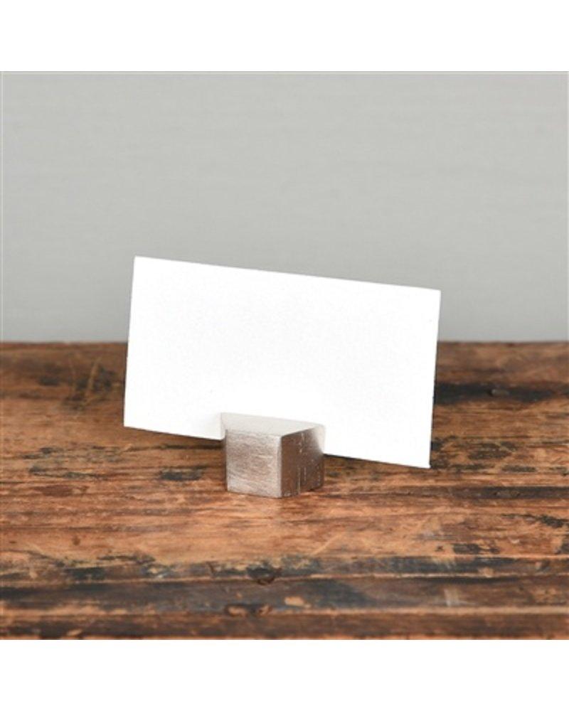 HomArt Nickel Cast Iron Hexagon Place Card Holder