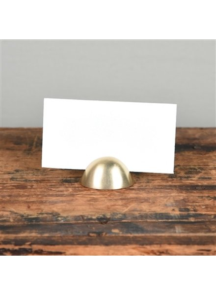 HomArt Brass Cast Iron Oval Place Card Holder - Set of 2