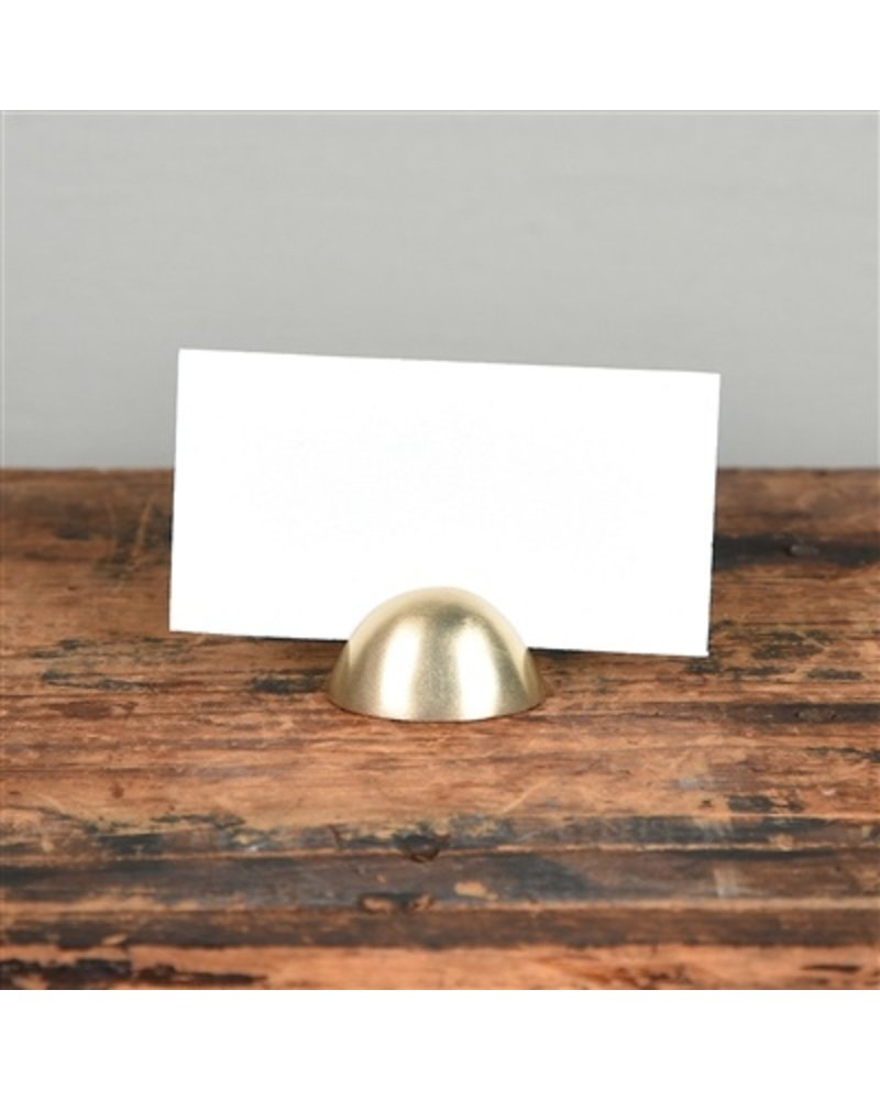 HomArt Brass Cast Iron Oval Place Card Holder