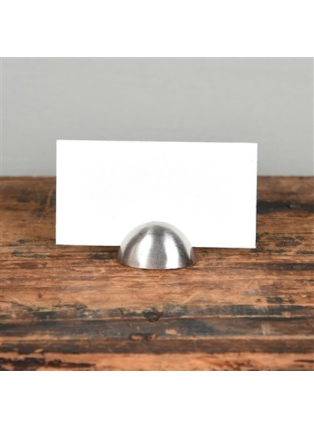 HomArt Nickel Cast Iron Oval Place Card Holder - Set of 2