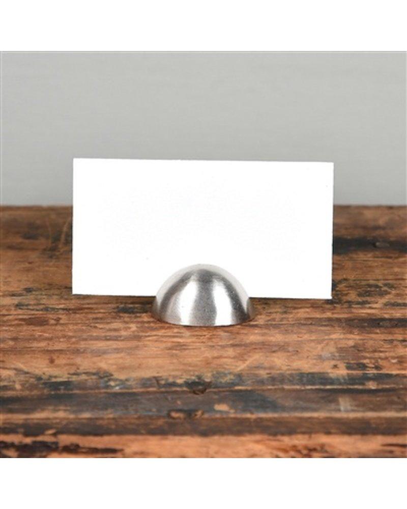 HomArt Nickel Cast Iron Oval Place Card Holder