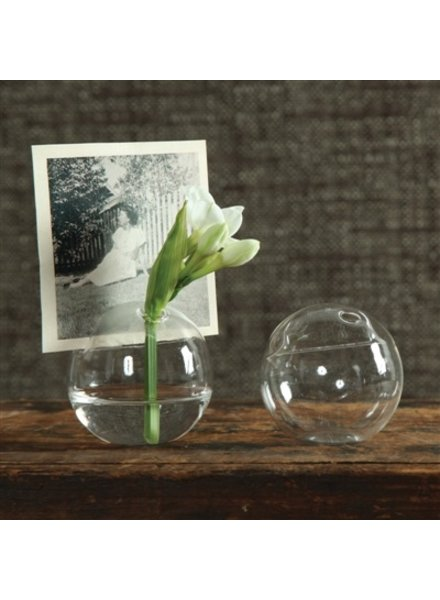 HomArt Bubble Place Card Holder - Round - Clear