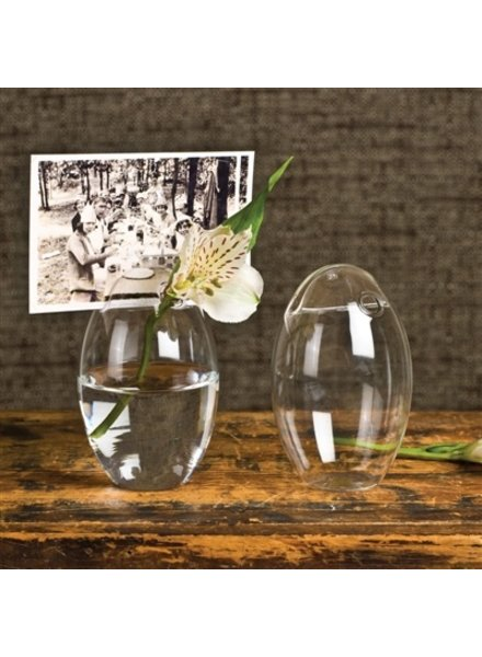 HomArt Bubble Place Card Holder - Oval - Clear