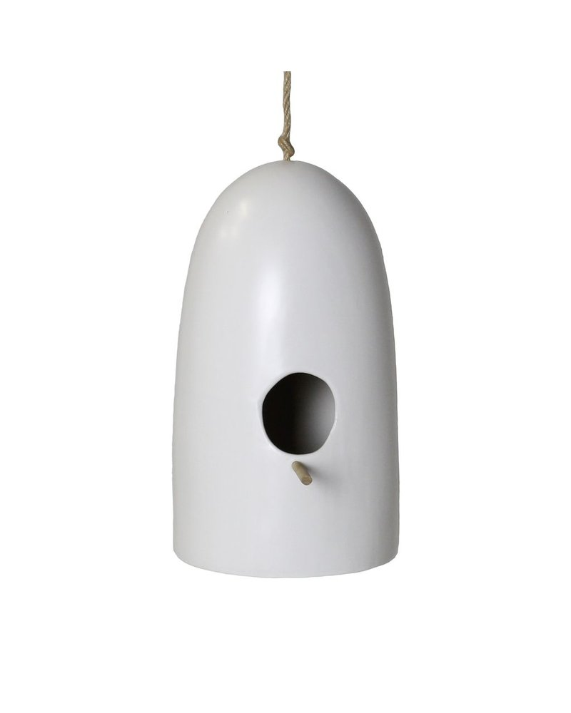 HomArt Ceramic Bird House - Lrg - Matte White