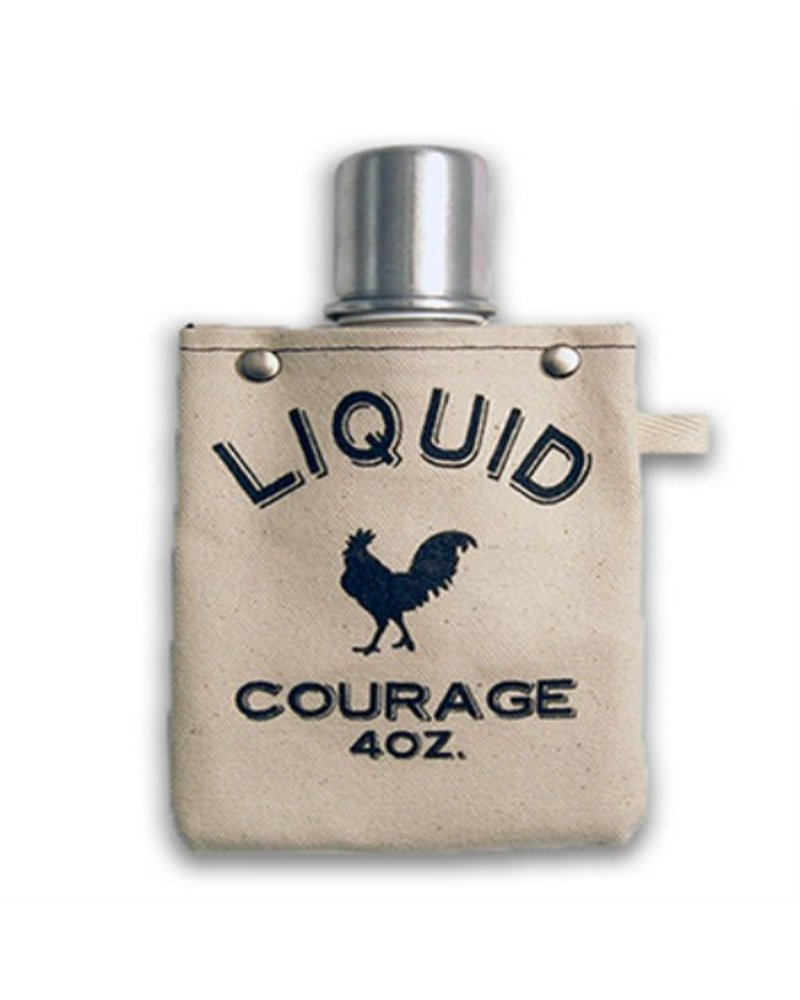 Clay Company Liquid Courage Canvas Flask 4oz