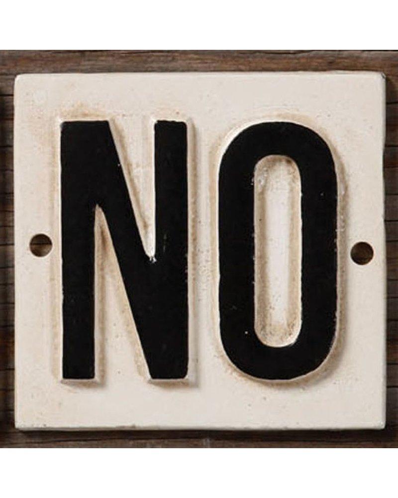HomArt Cast Iron Sign - NO