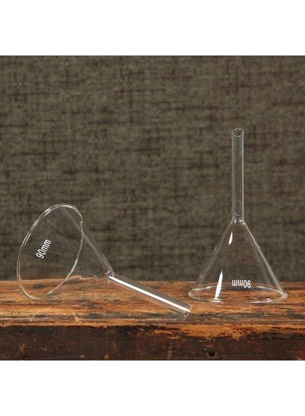 HomArt Chemistry Glass Funnel - 90mm Clear - Set of 2