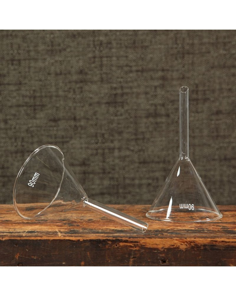 HomArt Chemistry Glass Funnel - 90mm Clear - Set of 2