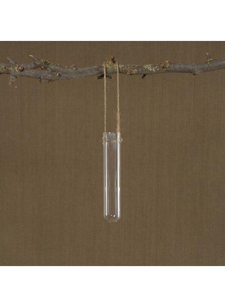 HomArt Hanging Glass Tube Vase - Sm