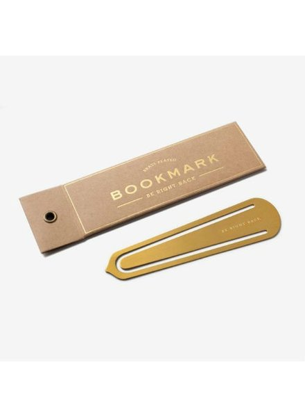 Brass Bookmark Be Right Back