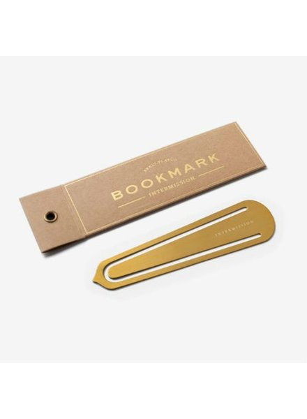 Brass Bookmark Intermission