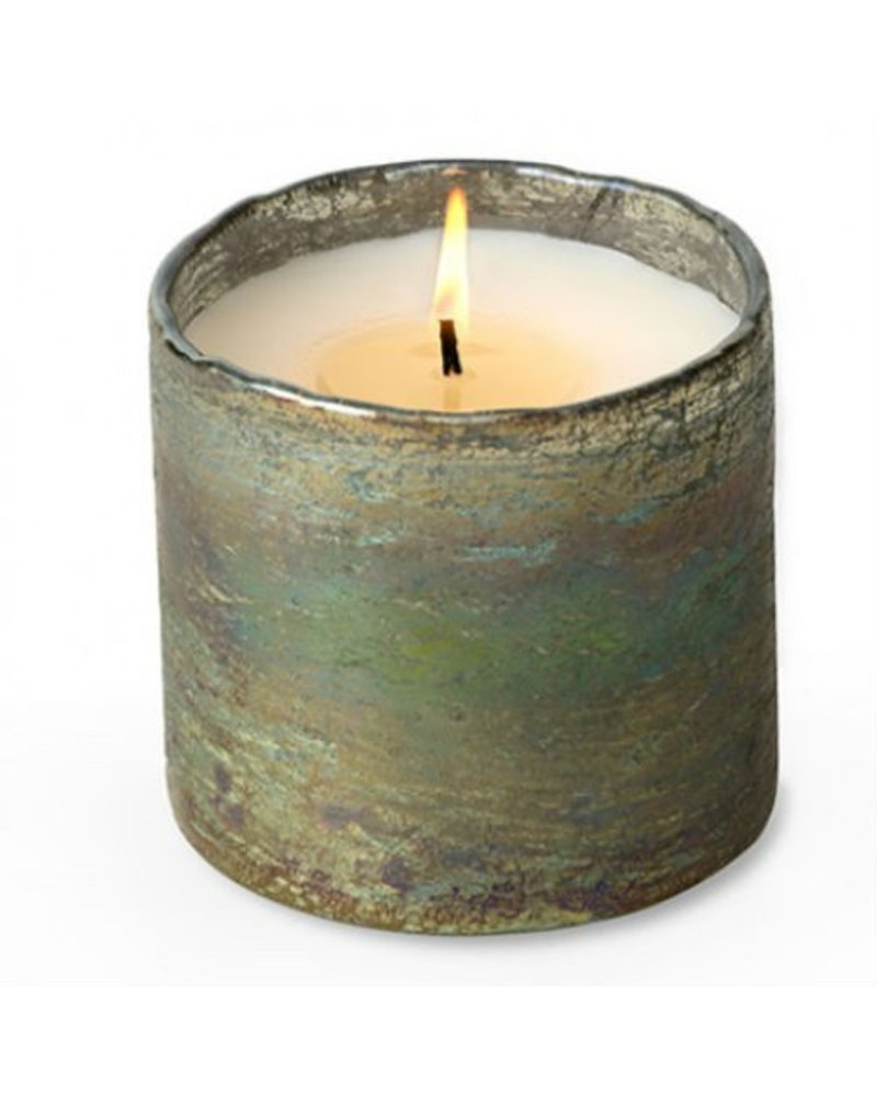 Orange Grove Moss Green Glass Soy Candle