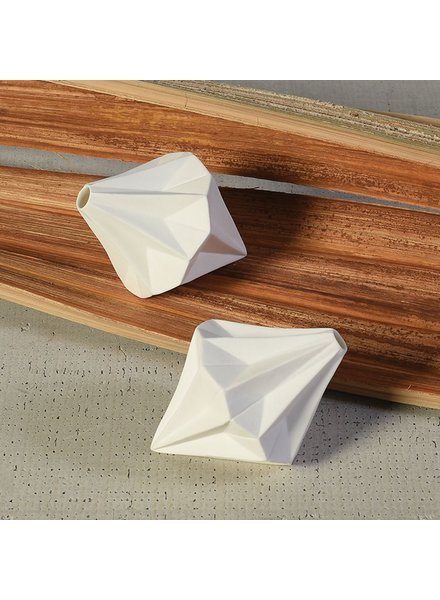 HomArt Niven Bone China Vase - Diamond