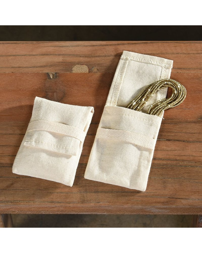 HomArt Jewelry Cotton Pouch - Medium Set of 6