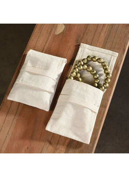 HomArt Jewelry Cotton Pouch - Large Set of 6