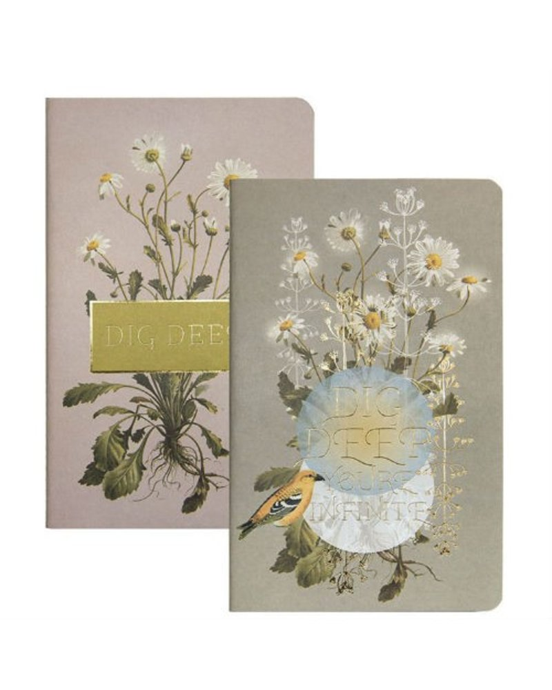 Papaya Dig Deep Daisy Notebooks Set of 2