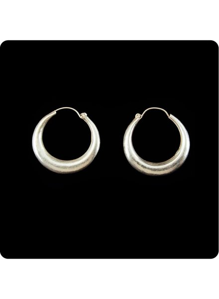 Zig Zag Asian Collection Hollow Hoop Earrings