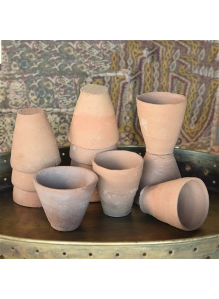 HomArt Terra Cotta Cups Set of 12