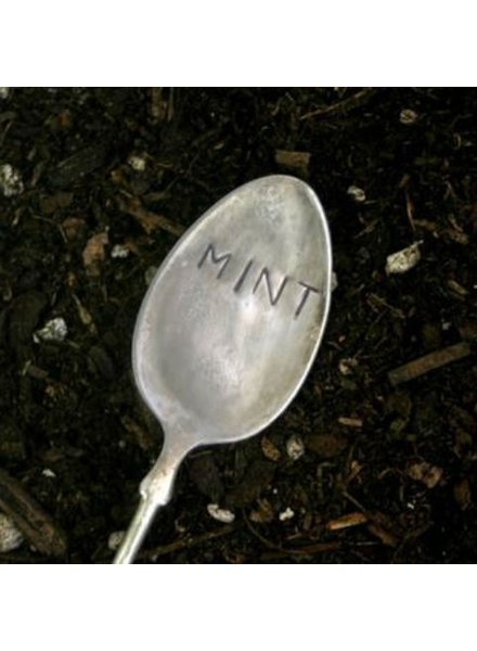 "Monkeys Always Look ""Mint"" Stamped Spoon"