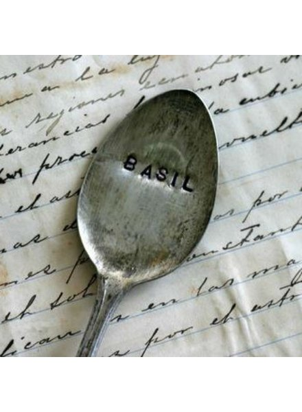 "Monkeys Always Look ""Basil"" Stamped Spoon"