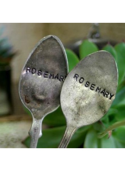 """Monkeys Always Look """"Rosemary"""" Stamped Spoon"""