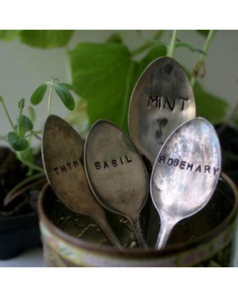 "Monkeys Always Look ""Rosemary"" Stamped Spoon"