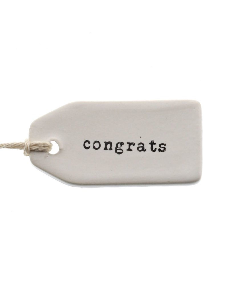 HomArt Congrats Ceramic Tag - Set of 4